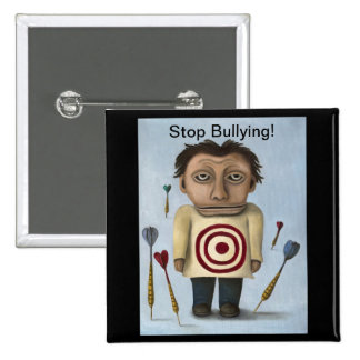 WTF?! Stop Bullying! 15 Cm Square Badge