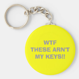 WTF   THESE ARN'T MY KEYS!! BASIC ROUND BUTTON KEY RING