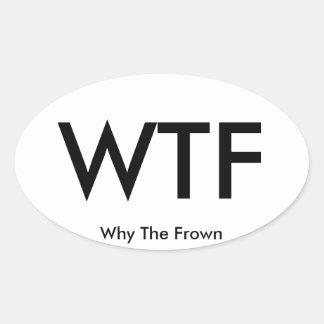 WTF travel sticker (sheet of 4)