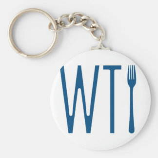 WTF - What The Fork Humor Merchandise Basic Round Button Key Ring