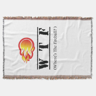 WTF - Where's the Fireball? Throw Blanket