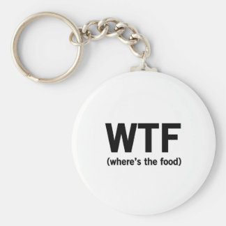 WTF Where's The Food Basic Round Button Key Ring