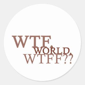 WTF World Classic Round Sticker