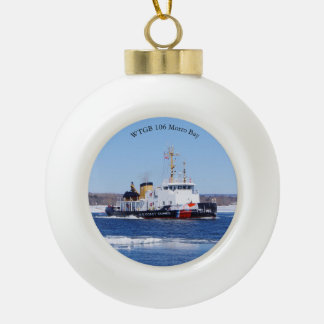 WTGB 106 Morro Bay Ceramic Ball Christmas Ornament