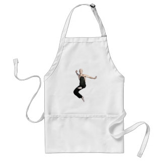 Wu Shu Form about to kick to the front Standard Apron