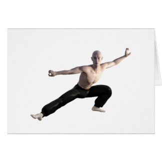Wu Shu Form Right Leg Extended Card