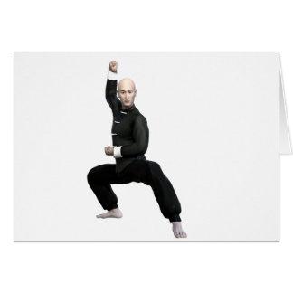 Wu Shu form with squat Card