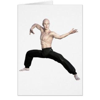 Wu Shu Squat Form Looking Left Card