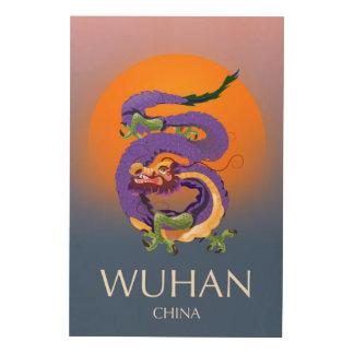 Wuhan China Dragon travel poster