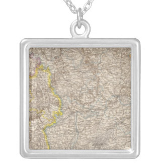 Wurttemberg, Bayern Atlas Map of Germany Silver Plated Necklace