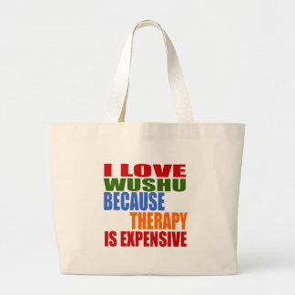 Wushu Is My Therapy Large Tote Bag