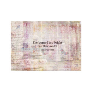 Wuthering Heights Quote by Emily Bronte Canvas Print
