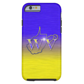WV Yellow and Blue Tough iPhone 6 Case