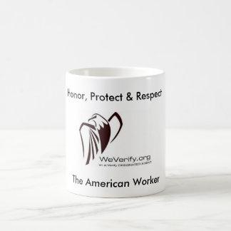 WVLogoSmall694179, Honor, Protect & Respect, Th... Basic White Mug