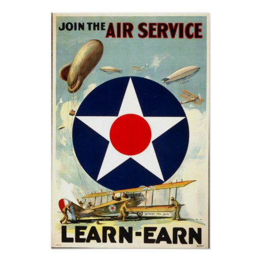 WW1 Army Air Corps recruiting poster