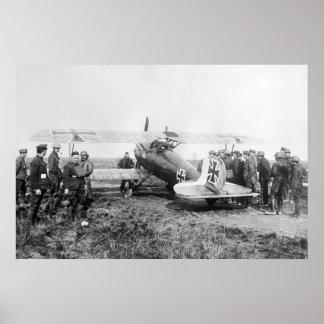 WW1 German Fighter Plane, 1910s Poster