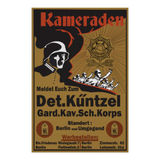 WW1 German Poster recreation Kameraden