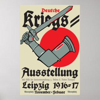 WW1 German Poster war exhibition in Leipzig