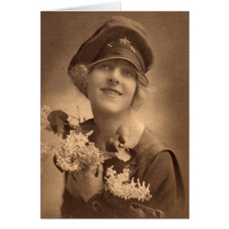 WW1 girl Card