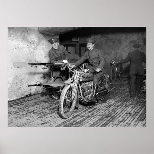 WW1 Motorcycle Ambulance Posters