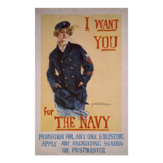WW1 Navy - Navy Recruitment Poster or Print