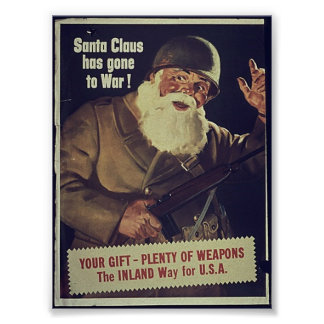 WW1 Santa Poster