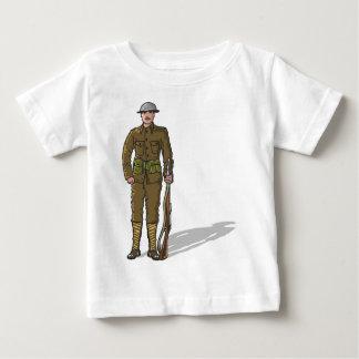 WW1 soldier Marine Sketch Baby T-Shirt