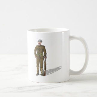 WW1 soldier Marine Sketch Coffee Mug