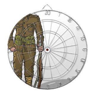 WW1 soldier Marine Sketch Dartboard