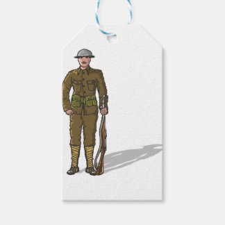 WW1 soldier Marine Sketch Gift Tags