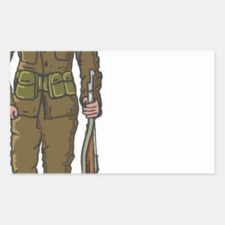 WW1 soldier Marine Sketch Rectangular Sticker