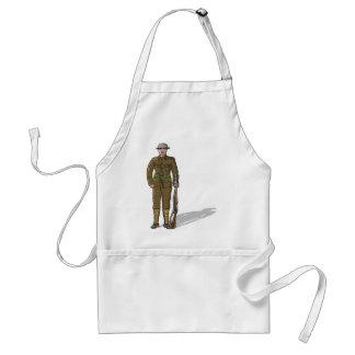 WW1 soldier Marine Sketch Standard Apron