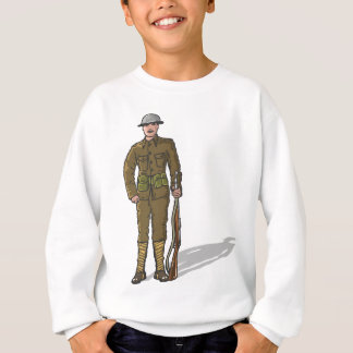 WW1 soldier Marine Sketch Sweatshirt