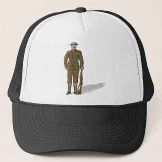 WW1 soldier Marine Sketch Trucker Hat