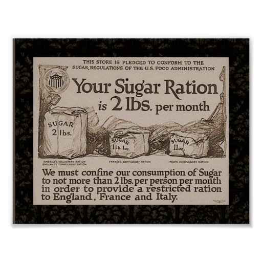 """WW1 Sugar Ration"" Posters"