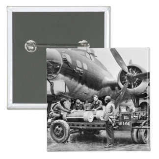 WW2 Airplane and Crew: 1940s Buttons