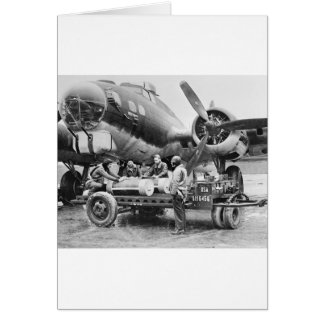 WW2 Airplane and Crew: 1940s Greeting Card