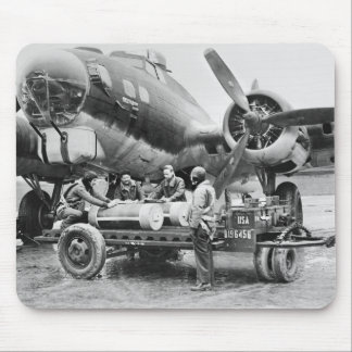 WW2 Airplane and Crew: 1940s Mouse Pad
