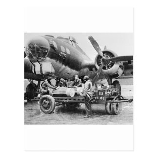 WW2 Airplane and Crew: 1940s Post Card