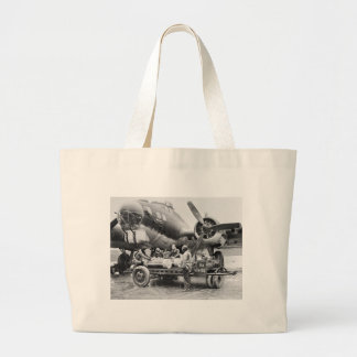 WW2 Airplane and Crew: 1940s Canvas Bags