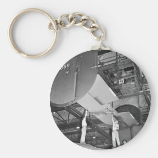WW2 Airplane Factory, 1940s Basic Round Button Key Ring