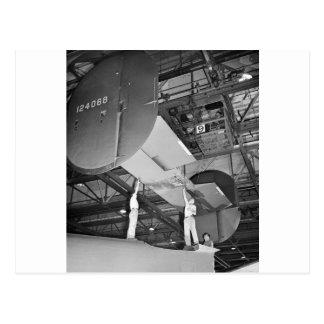 WW2 Airplane Factory, 1940s Postcard