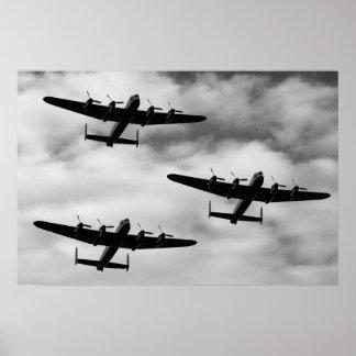 WW2 Avro Lancaster Bomber Poster