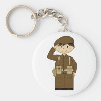 WW2 British Army Private Keychain