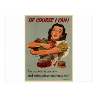 WW2 poster: of course, i can! Postcard