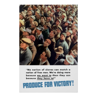 WW2 -- Produce For Victory! Poster