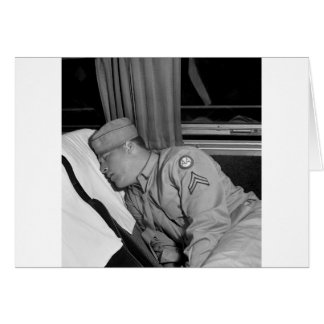 WW2 Soldier Napping, 1943 Card