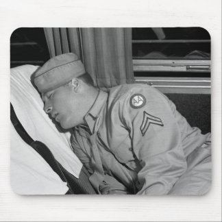 WW2 Soldier Napping, 1943 Mouse Pad