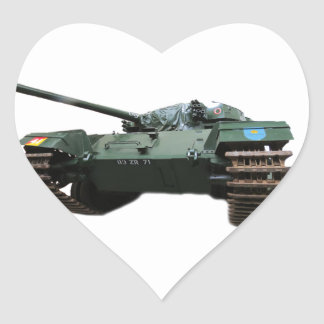 WW2 Tank Heart Sticker