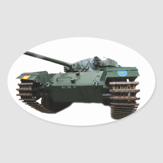 WW2 Tank Oval Sticker